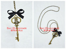 Black Butler II Alois & Ciel Necklace Key (Ciel In WonderLand) Metal Cosplay