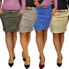 Eight2Nine Damen Rock MINI Stretchrock mit Gürtel Gr.XS,S,M,L,XL