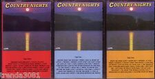 Country Nights 3Cassette Lot 50s 60s 70s DON WILLIAMS MERLE HAGGARD SYLVIA Rare