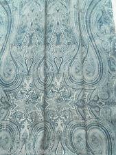Ralph Lauren Curtain Fabric BIRCHWOOD PAISLEY 1.5m Dusk Blue Linen Design 150cm