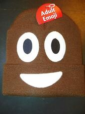 NEW Unisex Men / Women Pile of Poo / Poop Face Emoji Beanie Hat Knit Cap NEW