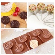 Silicone Cake Chocolate Cookie Lollipop Pop Mould Mold Tray Decorating DIY