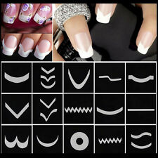 15sheet/set Nail Art Transfer Stickers 3D Design Manicure Tips Decal Decoration