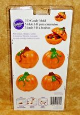 Pumpkin 3-D Chocolate Candy Container Mold, Wilton,Clear Plastic,2115-0014,Fall