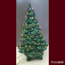 VINTAGE Style Ceramic Christmas Tree Large Holland with lights base and bulb