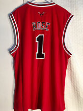 Adidas NBA Jersey Chicago Bulls Derrick Rose Red sz 2X