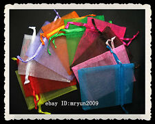 FREE 50Pcs Organza Jewellery Xmas Holidays Cards Party Supply Gift Wrap Bags #