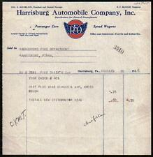 1926 REO Speed Wagons Automobile Co Harrisburg PA Color Letter Head Vintage Rare