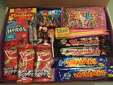 American Sweets Gift Box -28 Items - USA Candy Hamper - Wonka Nerds - Present re