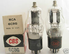 2 matched RCA/CBS 6C8G tubes - TV7B tested @ 55/51, 52/54, min:25/25