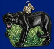 *Panther* Cat Puma [12313] Old World Christmas Glass Ornament - NEW