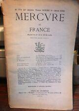 """revue """"Mercure de France"""" n° 771, 1930, Constantin, Fagus, Posener, Charpentier"""