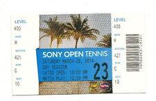 2014 SERENA WILLIAMS VS LI NA ATP SONY OPEN TENNIS FINAL TICKET STUB 3/29