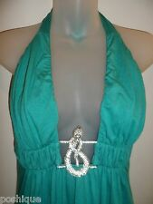 Sky Clothing Brand L Dress Rhinestone Crystal Snake Seafoam Turquoise Party Club