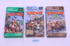[Free track ship] Super Donkey Kong country 1 2 3 SNES SFC Super Famicom boxed