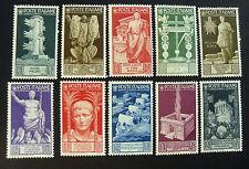 """ITALIA,ITALY REGNO 1937 """" Bimillenario  nascita di Augusto """" 10V.Cpl set MNH**"""