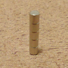 5 Neodymium Cylindrical (1/8 x 1/8) inches Cylinder/Disc Magnets.
