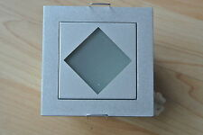 DESIGNER ALUMINIUM/brushed chrome mini light boxes opal glass G4 bulb fitting