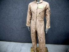 NEW NOMEX Army Surplus Flight Suit CWU 27P Tan Flyers Coveralls 34 Reg Jumpsuit