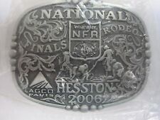 National Finals Rodeo Hesston 2006 NFR Youth (Small) Cowboy Buckle New AGCO PCRA