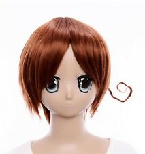 W-18 APH Axis Power Hetalia Italy cosplay peluca Wig calor fijo marrón Brown