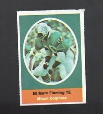1972 SUNOCO STAMP MARV FLEMING MIAMI DOLPHINS
