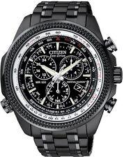 New Citizen Mens Eco Drive Perpetual Calendar Chrono Black Dial Watch BL5405-59E