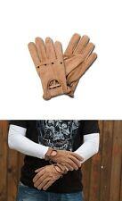 Handschuhe Men braunem Leder Vintage AL28 x Biker Biker Größe XL