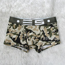 Men's cool Comfort Camo Underwear pattern Boxer Briefs Men Underpants Size XL
