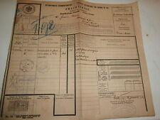 Lettre de Voiture Chemins de Fer international 1920 DOMMELDINGEN Burbach Eich