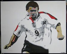 WAYNE ROONEY UNIQUE original POP ART Oil Painting Lench England Man Utd Football
