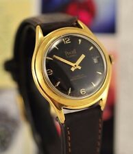 Vintage Swiss Piaget Automatic Date 18K Gold Filled 33 mm case Man Watch