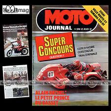 MOTO JOURNAL N°298 ALAIN MICHEL BIMOTA SB2 BPS 125 ELAN TRIAL DANIEL KEMPF 1977