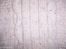 Mens 100% Wool Jumper Aran Cable Style Fleck Sz 2 M L  RRP £65