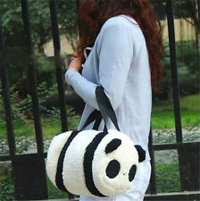 FD4153 Large Cute Soft Plush Panda Handbag Travel Storage Shoulder Zipper Bag ☆