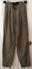 ExOfficio Cargo Hiking Outdoor Pants Dark Khaki Elastic Waist Web Belt Size 6/8