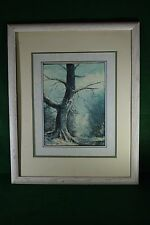 Signed Oil Painting on Canvas Board by Joe Shell - Indiana Landscape Artist