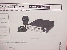 1979 TRS CHALLENGER CB RADIO SERVICE SHOP MANUAL MODEL 600