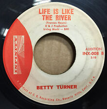 """45 Betty Turner I Believe In You / Life Is Like The River 7"""" VG 1961 Promo Soul"""