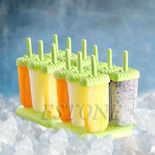 6 Cells Frozen DIY Ice Cream Popsicle Icepop Mold Maker Block Mould Homemade Set