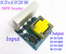 DC-AC Converter DC 12V to AC 18V 220V 380V 500W Inverter Boost Board Transformer