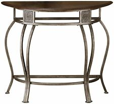 Hillsdale 41547 Montello Console Table Old Steel finish wih wood op  NEW