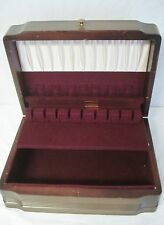 Vintage Flatware Storage Chest Box Art Deco Worn Outside Minty Inside Rogers