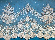 66 ins antique/vintage 19th siècle bruxelles applique dentelle profonde bordure