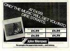 1/6/85pg22 Album Advert 7x10 Dire Straits, Brothers In Arms (john Menzies)