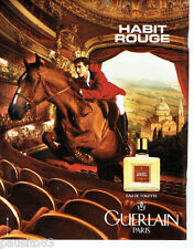 PUBLICITE ADVERTISING 096  1995  Guerlain  eau toilette homme Habit Rouge