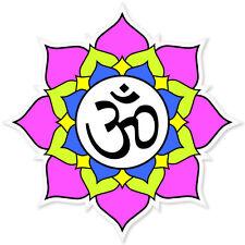 """Yoga Lotus Flower car bumper sticker 4"""" x 4"""""""
