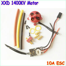 A2204 7.5A 1400KV 50W SP Micro Brushless Motor W/ Mount + 10A ESC For RC Aircraf