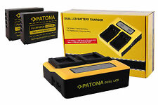 LCD DUAL Doppel Ladegerät inkl. 2x Patona Akku NP-W126 für Fuji Fujifilm X-T1
