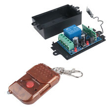 DC 12v 10A relay 1CH wireless RF Remote Control Switch Transmitter+Receiver US